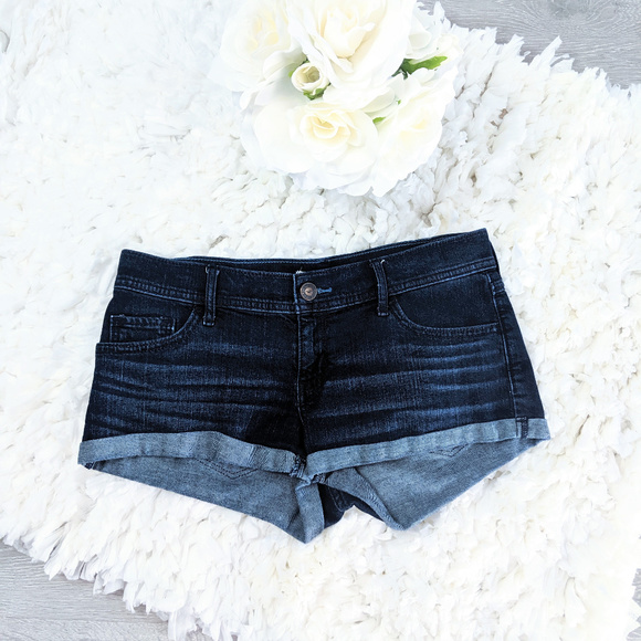 Hollister Pants - Hollister Blue Denim Jeans Mini Shorts Sz 5
